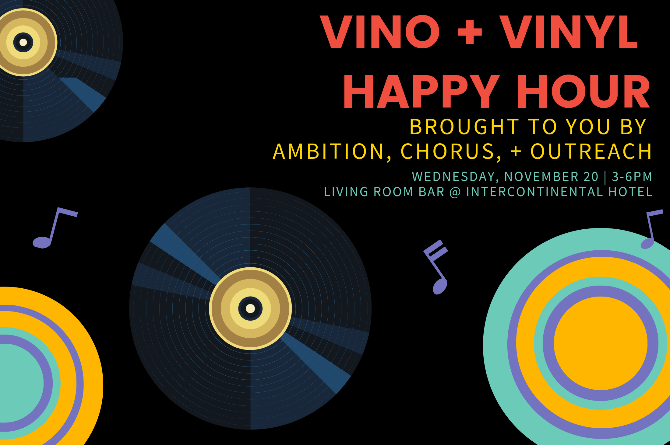 Vino + Vinyl Happy Hour