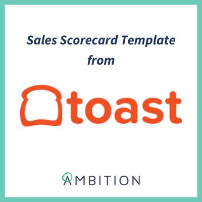 sales scorecard template toast