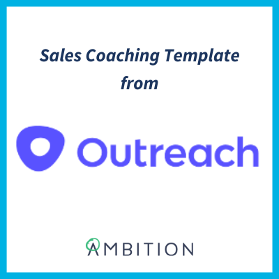 sales coaching template outreach